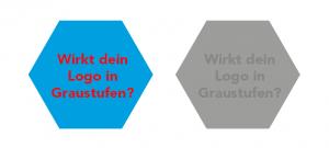Logo in Graustufen